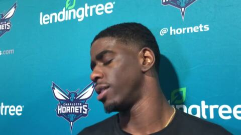 Charlotte Hornets' Dwayne Bacon on his sore knee.