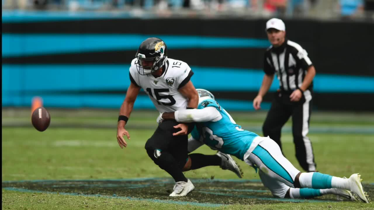 Panthers Brian Burns describes plays against the Jacksonville Jaguars