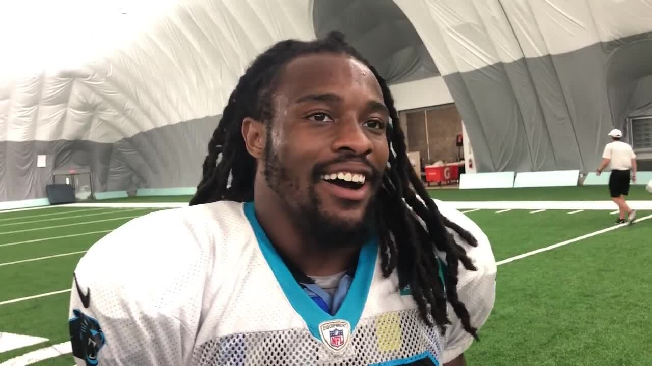 It took awhile, but Panthers rookie Jordan Scarlett is finally showing off