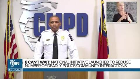 CMPD announces compliance with the Eight Can't Wait policies through campaign zero
