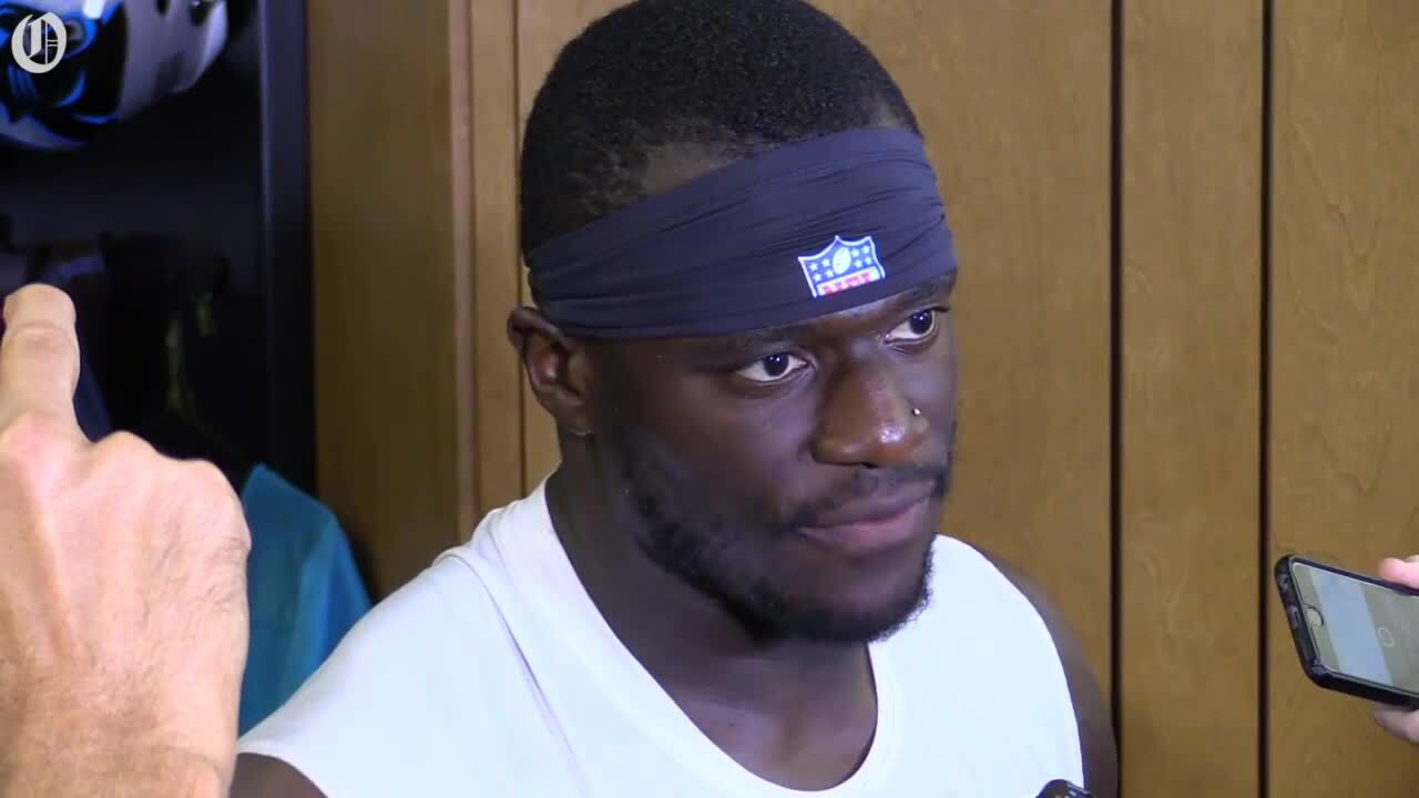 new concept 5c007 20b72 Panthers DE Efe Obada has big plays in first career game ...