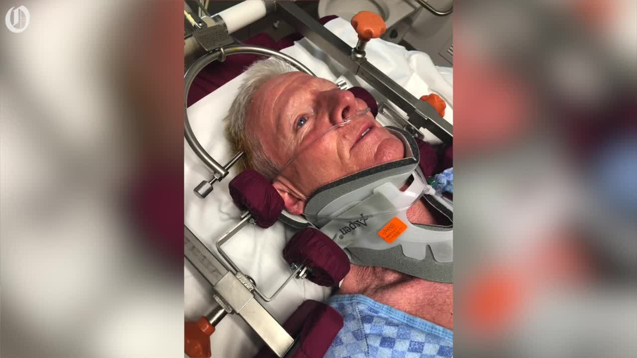 Retired cop broke his neck after being struck by a wave. He was the 'lucky' one.
