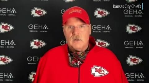 Chiefs' coach Andy Reid on Tampa Bay, the defense and Tyreek Hill