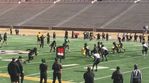 Mizzou Tigers spring practice highlight: Connor Bazelak throws TD