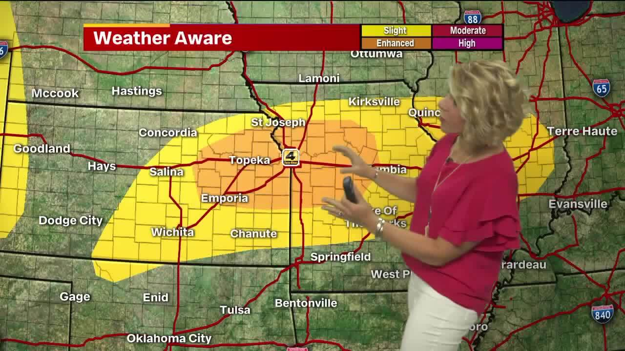 As overnight storms move out of KC area, forecast calls for hail, winds, flooding