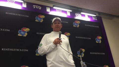 KU football lost big to TCU. A surprise pregame announcement might have played a role