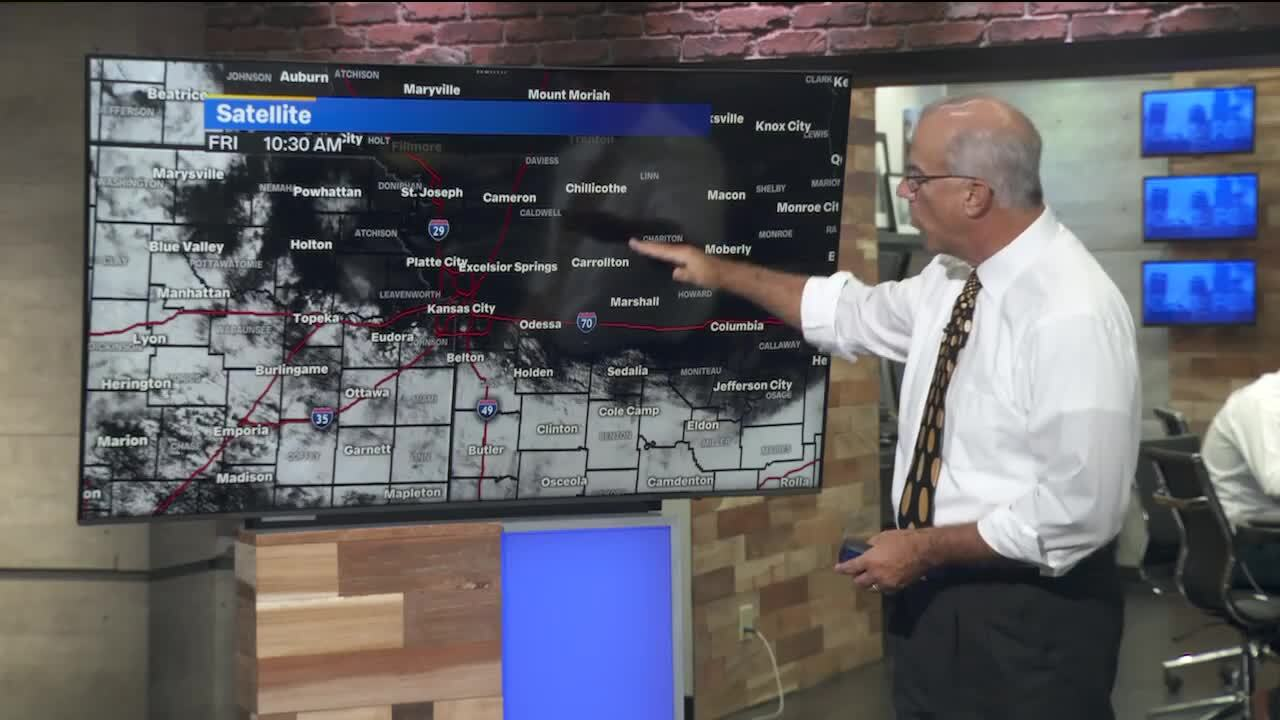 Below-normal temps, chance of rain in Kansas City's weekend forecast