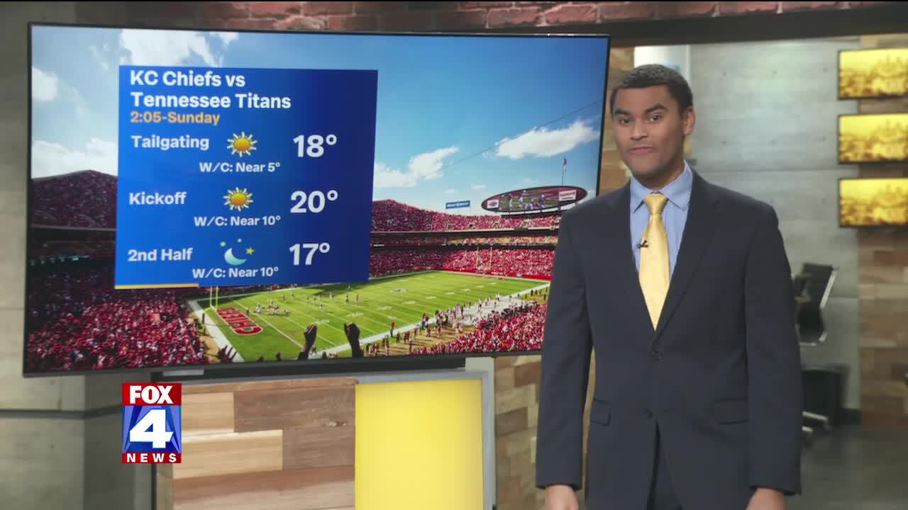 'Sunny but cold' for AFC Championship game Sunday, so bundle up Chiefs fans