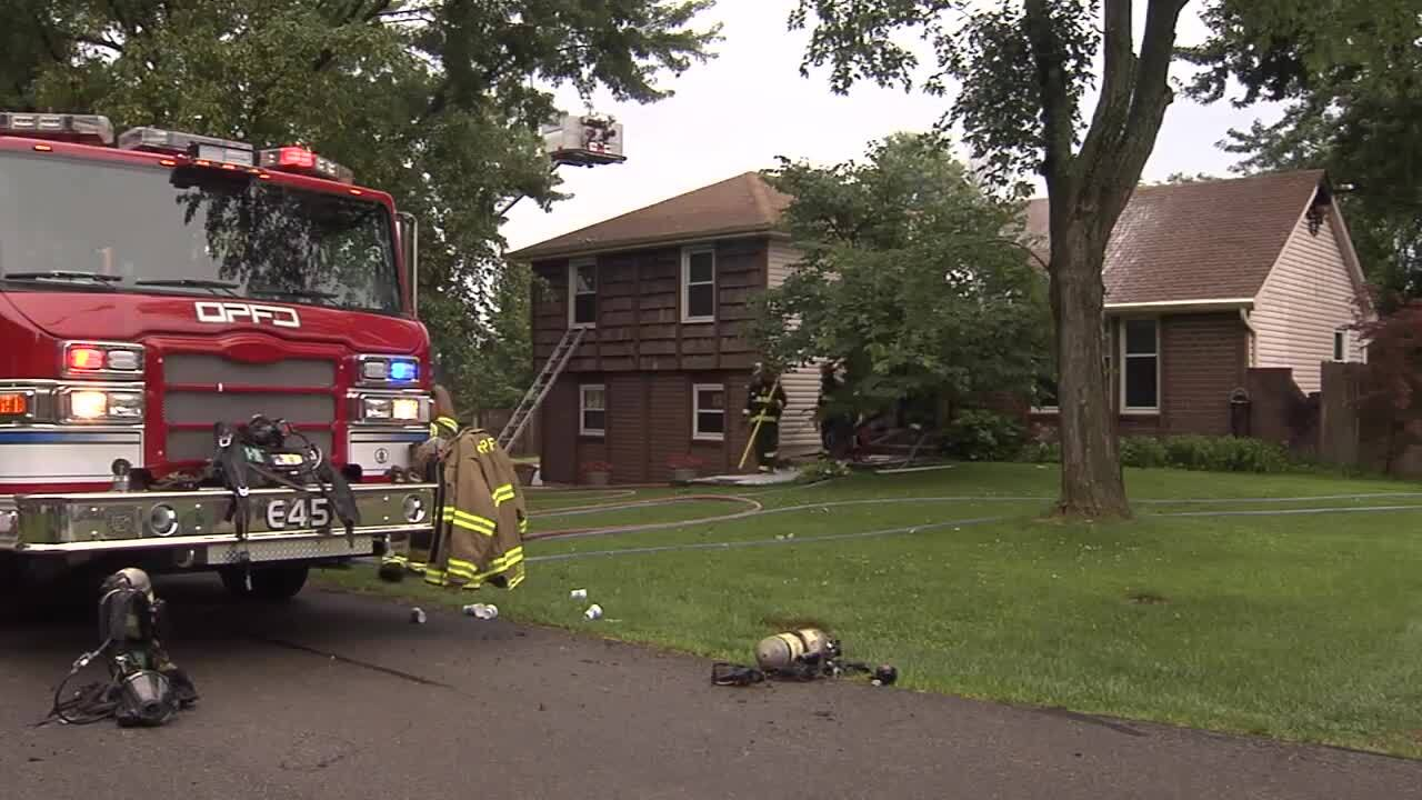Lightning blamed for Johnson County house fire