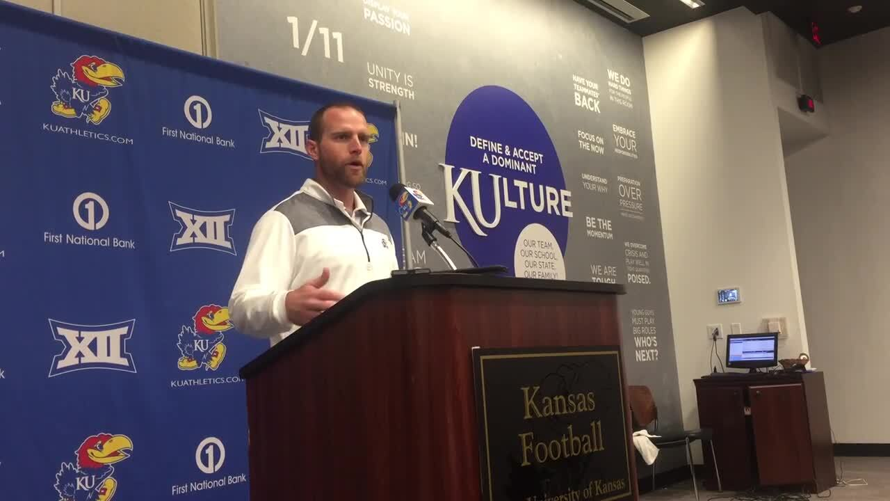 KU football has a new O-coordinator. His contract suggests he'll get a long look