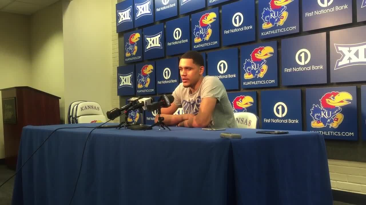 KU freshman Tristan Enaruna steps up: 'He made the biggest shot of the game'