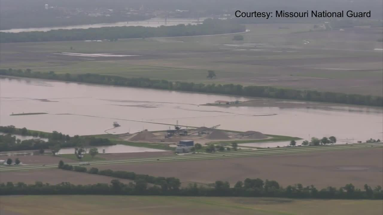 Missouri River flooding continues between Jefferson City and Canton