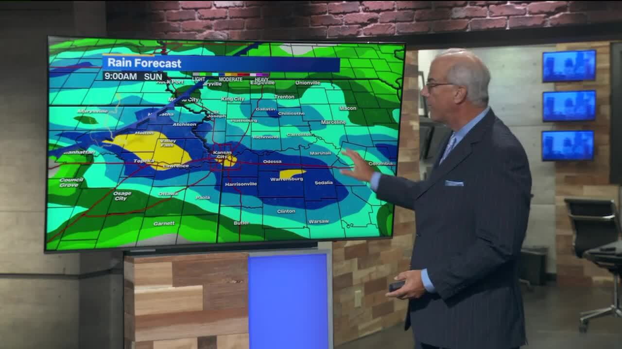 Hot weather will continue Thursday in KC. Cooler temps, rain in the weekend forecast