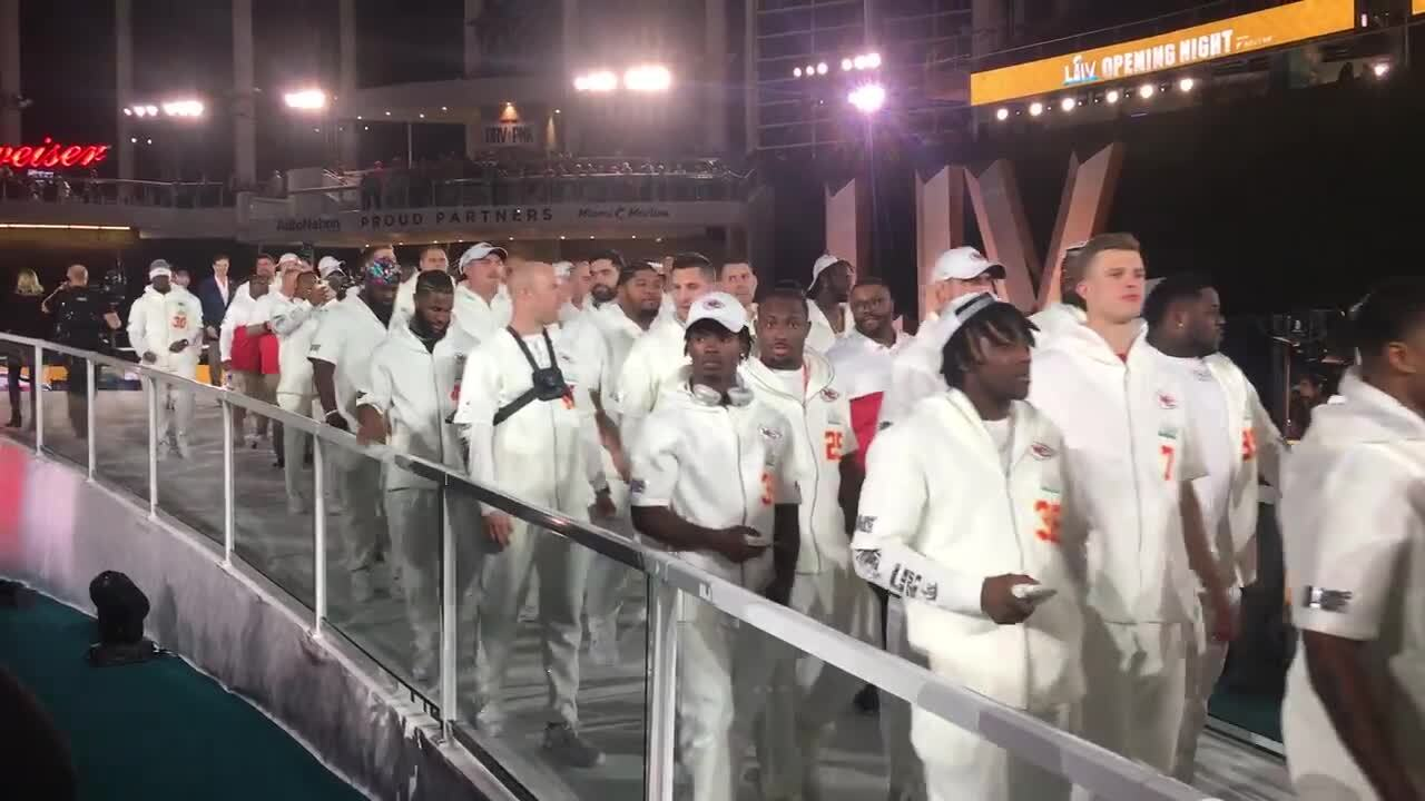 Six weird sights from the Chiefs' portion of the Super Bowl's Opening Night in Miami