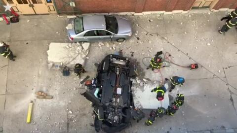 SUV falls four stories from parking garage, killing 2 in Indianapolis, officials say