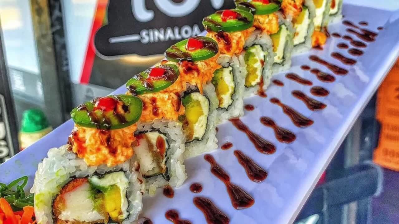 Mexican sushi in a former Tahoe Joe's. This restaurant opens its first Fresno location