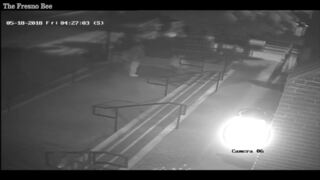 Suspected arsonist caught on camera attempting to set Fresno cathedral on fire