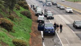 Shots fired on freeway