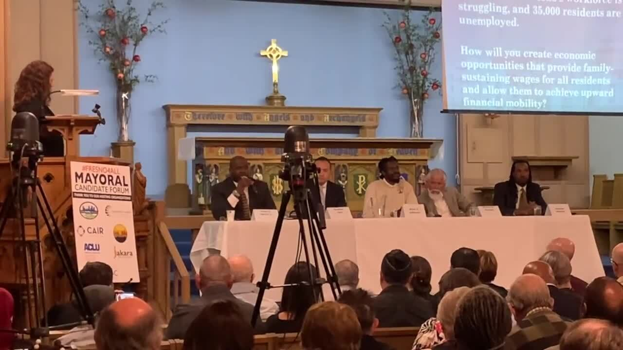 Hundreds pack church to attend Fresno's mayoral forum. Why wasn't Jerry Dyer there?