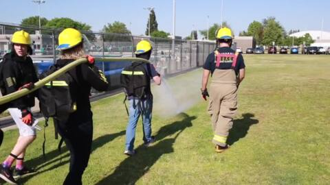 Not playing with fire: Clovis Unified students learn how to battle blazes