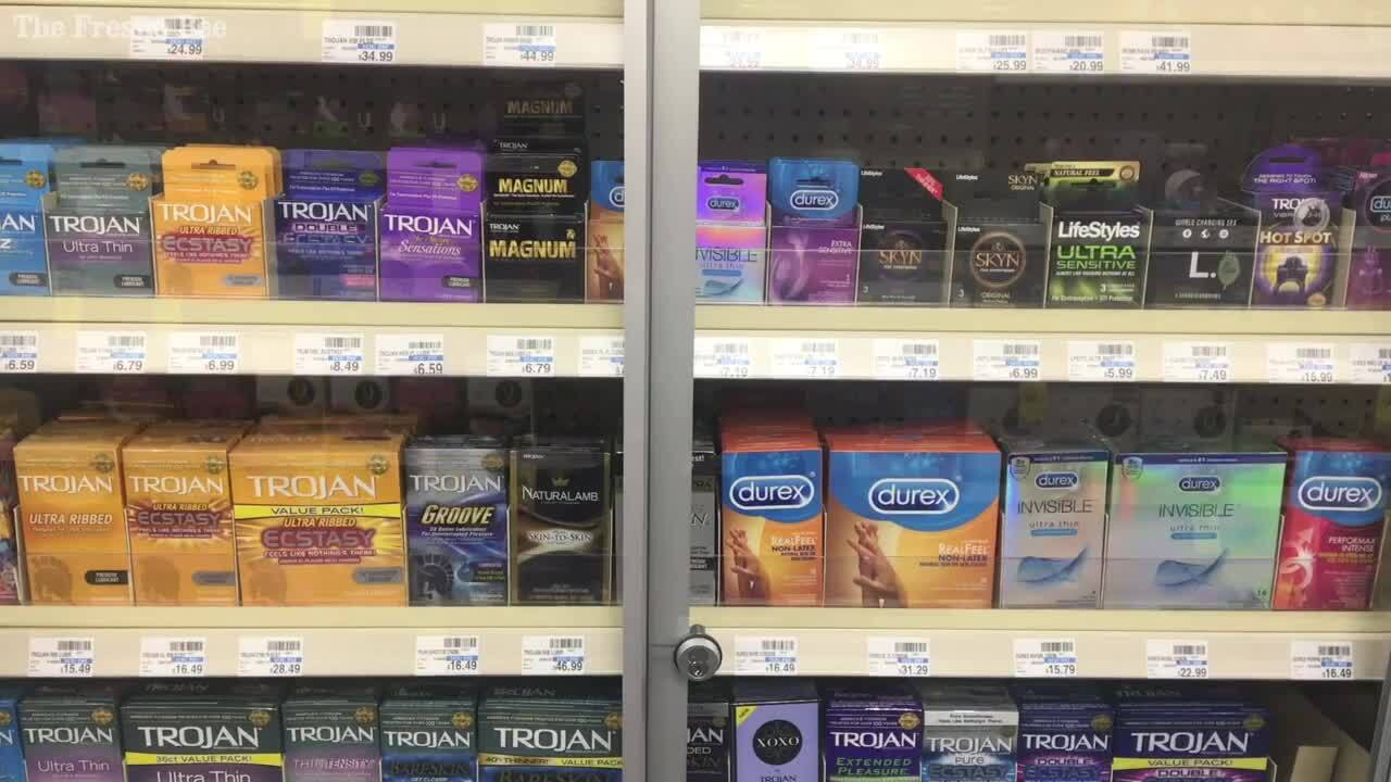 Condoms locked to prevent theft | Teens embarrassed to ask | The