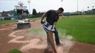 Groundskeepers flip Fresno's field of dreams back to baseball for Grizzlies opening day