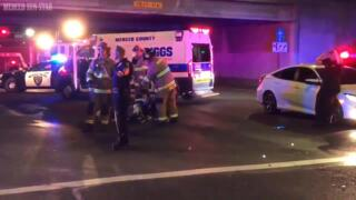 Motorcyclist suffers major injuries in Merced after colliding with ambulance