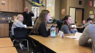 Here's what Meridian High students told Sen. Doug Ericksen about school safety