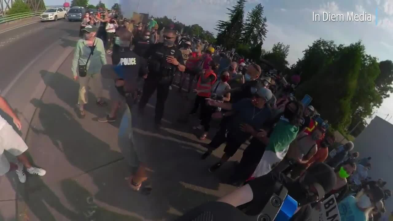 Man cited after scuffle at Black Lives Matter rally in Ferndale
