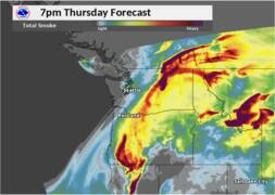 When will those smoky skies clear? Weather forecast shows help is on the way
