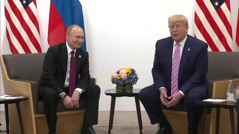 Trump responds to election meddling question with joke to Putin