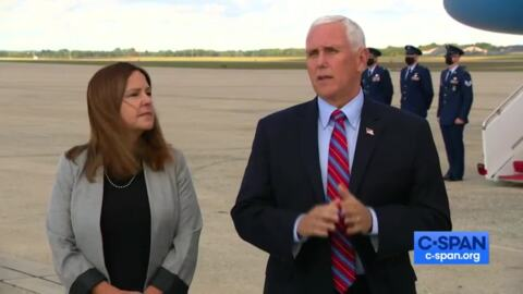 Vice President Pence thanks Americans for supporting President Trump while he's been in the hospital