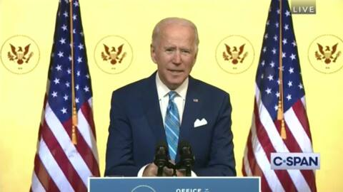 In Thanksgiving address, Biden calls for unity and personal responsibility in fight with coronavirus