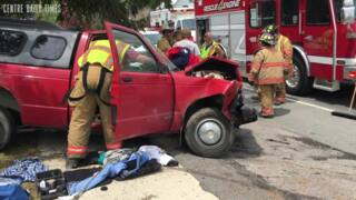 Driver flown to hospital after a three-vehicle crash