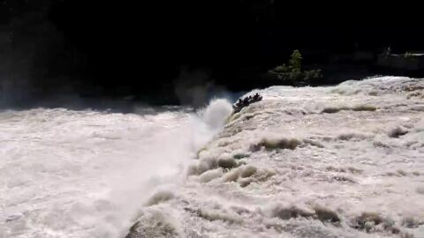 'No, no, no!' Plunge over Pennsylvania waterfall spills six rafters, video shows