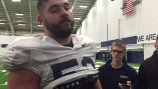 Penn State OL Ryan Bates discusses Nick Tarburton's move to DE