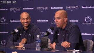Keegan-Michael Key jokes around with James Franklin