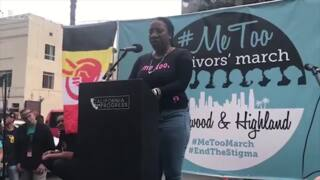 Sexual assault survivors talk about speaking out at #MeToo March in Hollywood