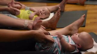 Centre County moms relieve stress while forming bonds with their babies during mom and baby yoga class