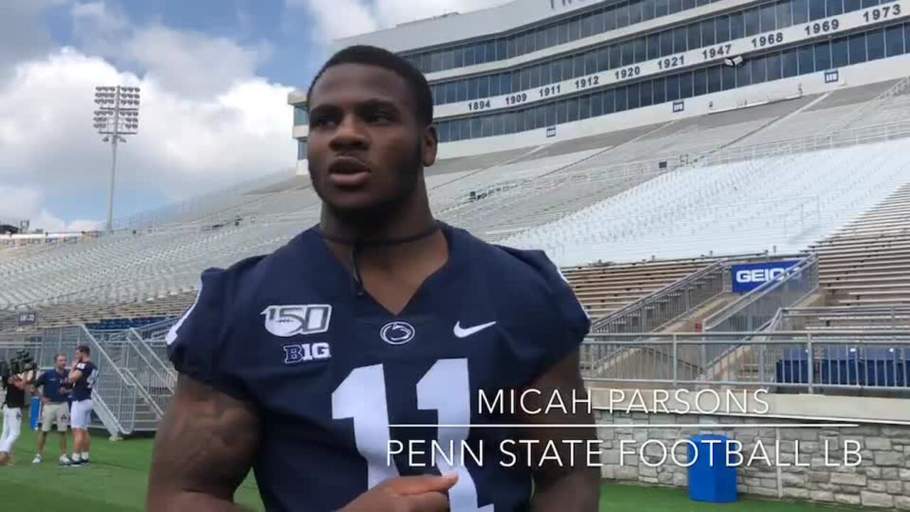 How Penn State's fun-loving Micah Parsons transforms into one of the Big Ten's best on game day