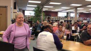 Puyallup teacher surprised with Outstanding Educator Award
