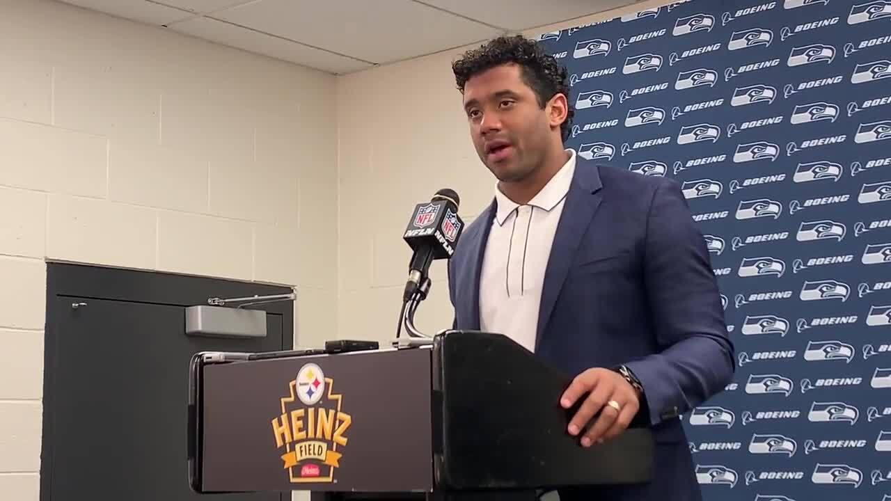 Russell Wilson describes the hit he took, then winning pass he threw, as Seahawks beat Steelers