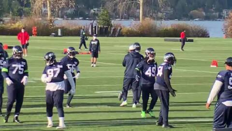 Chris Carson, Seahawks practice in post-Thanksgiving sun for Monday nighter at Eagles