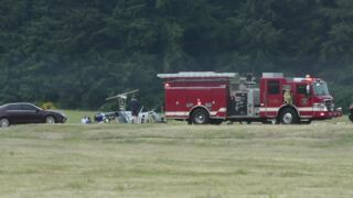 Helicopter crash at Olympia Airport
