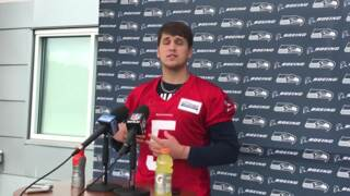 Alex McGough, only second QB Carroll and Schneider have drafted for Seattle, on his start st Seahawks rookie minicamp.