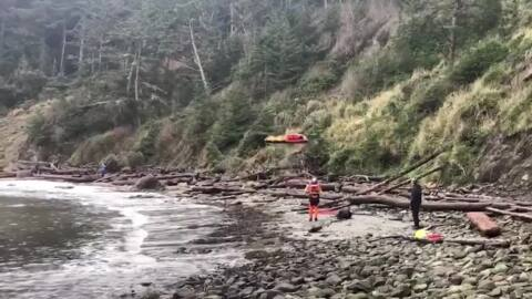 Coast Guard rescues hiker who fell from Oregon cliff in helicopter