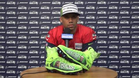 Russell Wilson takes his 'responsibility to love and help people' to his BLM cleats