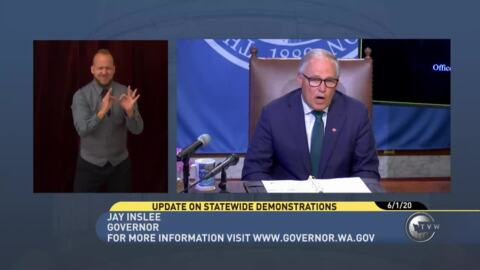 """""""We can't allow violence to hijack peaceful protest,"""" Gov. Inslee says"""