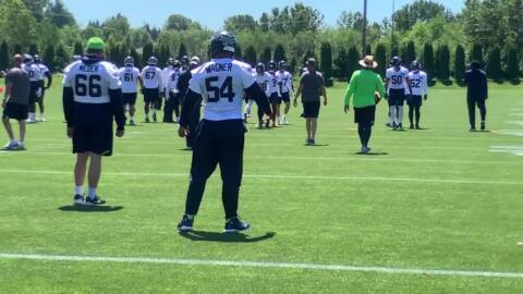 Bobby Wagner graduates to helmet-wearing, still not practicing at Seahawks minicamp, awaiting new deal