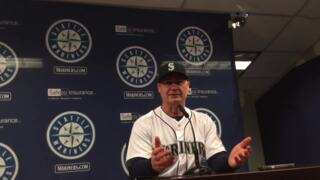 Scott Servais talks Nelson Cruz jam-shot HR, Paxton's first win against Astros